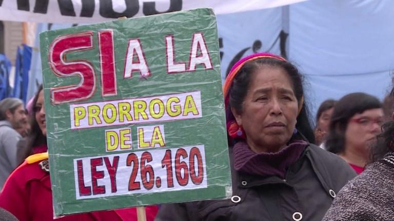 Pueblos originarios reclaman prórroga de ley para evitar desalojos en Argentina