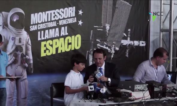 Niños venezolanos contactan con Estación Espacial