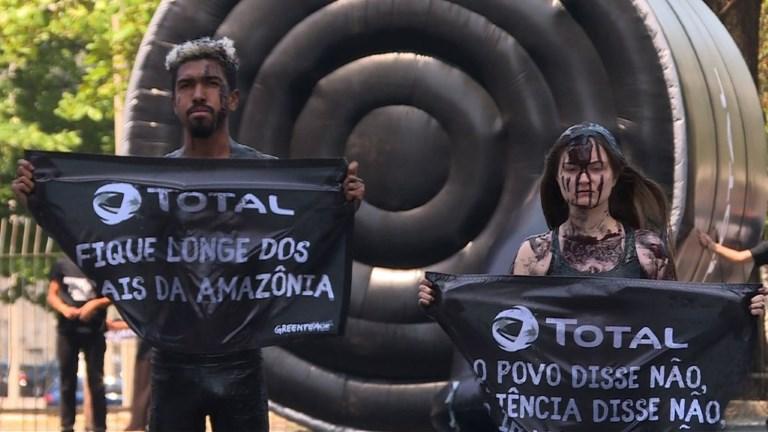 Greenpeace pide a Total alejarse del coral en la Amazonia