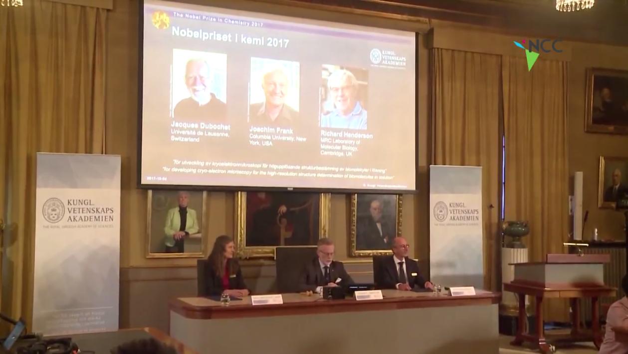 Tres científicos comparten el Premio Nobel de Química 2017