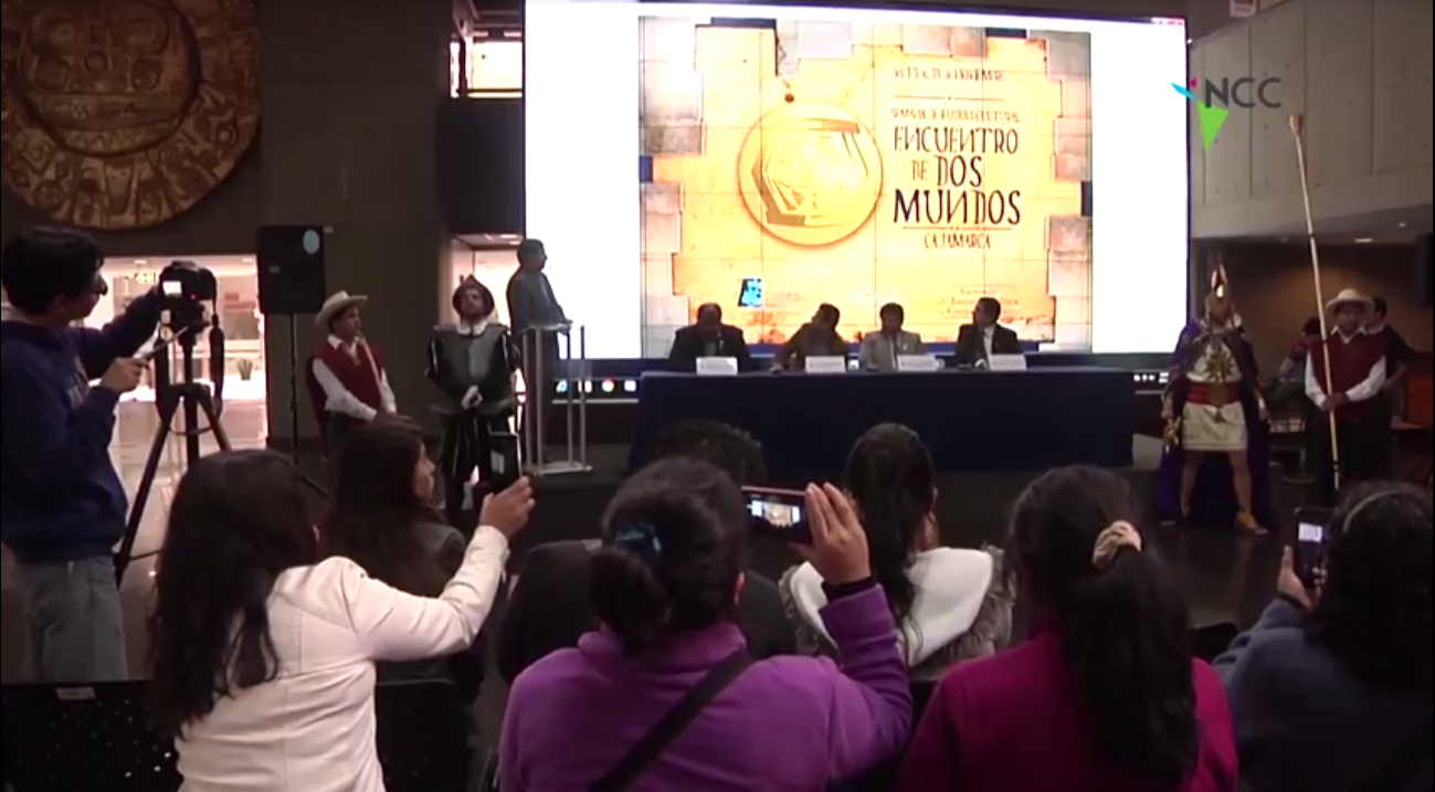 """Perú: Cajamarca presentó en Lima la escenificación del """"Encuentro de dos mundos"""""""
