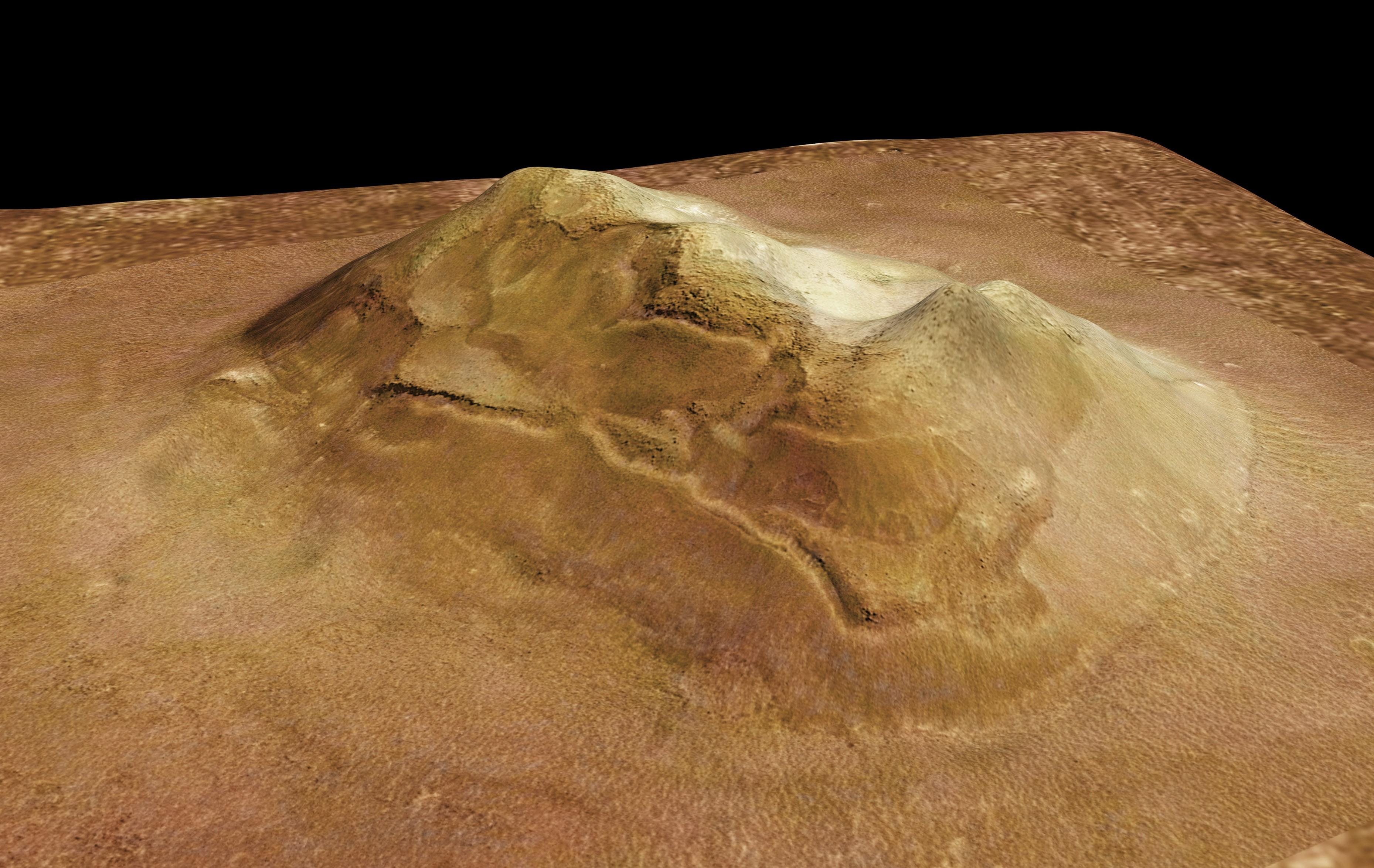 """Perspectiva de la """"Cara de Marte"""""""