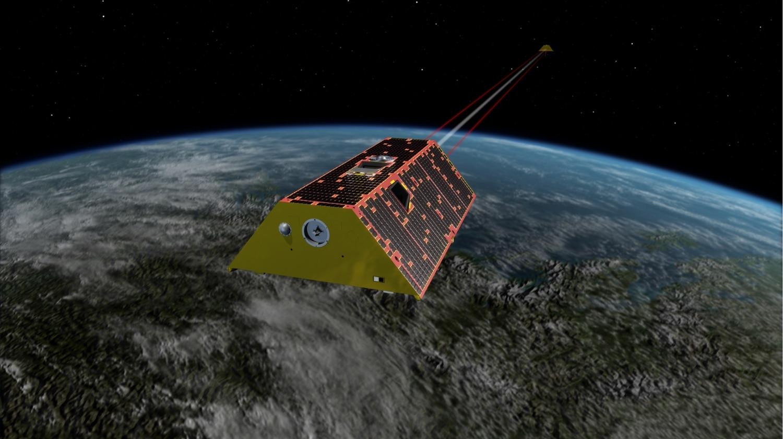 Ilustración de GRACE-FO orbitando la Tierra Crédito de la imagen: NASA / JPL-Caltech