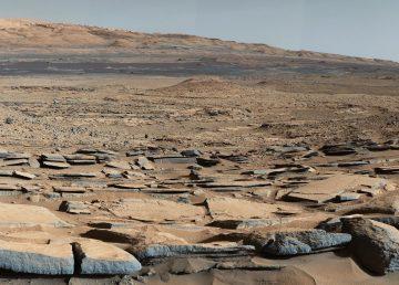 """Vista desde la fomración """"Kimberley"""" en Marte, tomada por el Curiosity de la NASA's"""