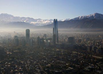 Smog en Santiago, Chile.