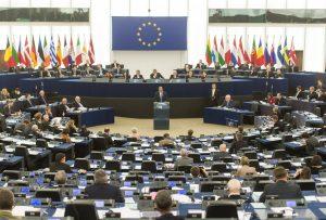 Varios eurodiputados aclaran que Wikipedia está exenta de la nueva directiva de Copyright Una sesión del Parlamento Europeo. EFE/Archivo