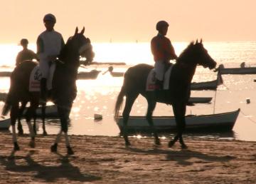 Tradicional carrera de Caballos, en la playa de Sanlúcar de Barrameda