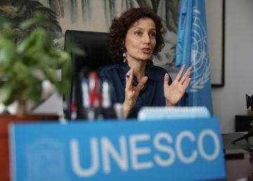 La directora general de la UNESCO, Audrey Azoulay, visita Pekín