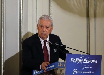 Iván Duque participa en un desayuno informativo en Madrid