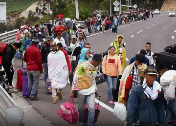 Venezolanos buscan seguridad fuera de su país