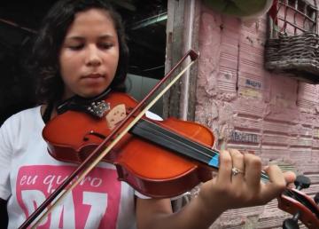 Encontraron en el violín una esperanza