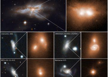 Hallan en Chile relación entre choque de galaxias y voracidad agujeros negros
