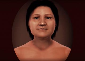 La cara digital de un rostro con mil años