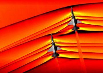 NASA toma fotografías inéditas de aviones cruzando la barrera del sonido