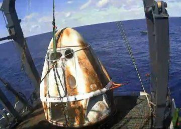 Misión cumplida para SpaceX: la cápsula Dragon regresa a la Tierra