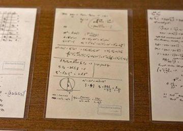 Pusieron al descubierto más de cien manuscritos de Einstein