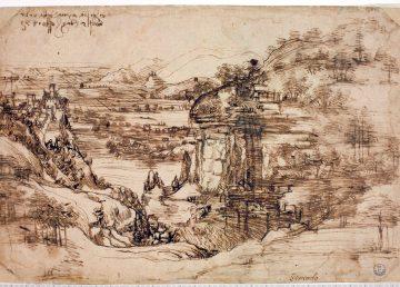 El primer paisaje de Leonardo Da Vinci confirma que era ambidiestro