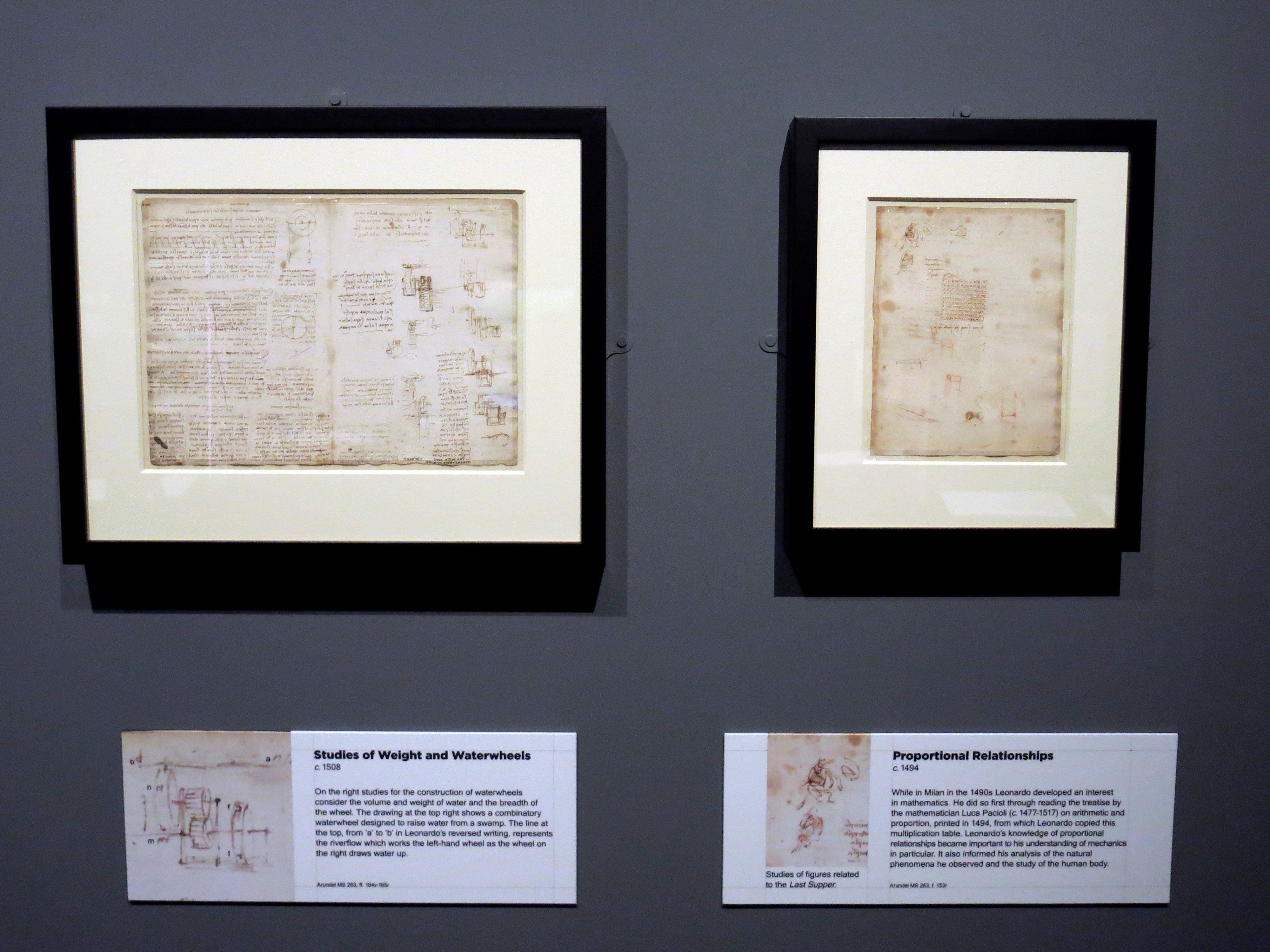 La mente del artista e inventor Leonardo da Vinci, al descubierto en Londres