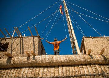 Un barco de caña para cruzar el Mediterráneo, como en el antiguo Egipto