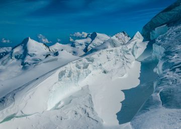 Glaciar Planpincieux en Mont Blanc a punto de colapsar