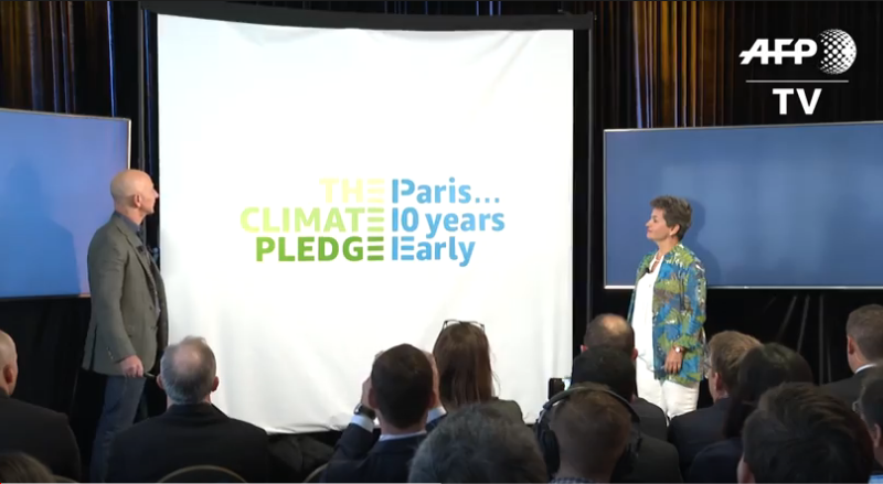 Amazon plantea adelantarse diez años a objetivos de París para el clima
