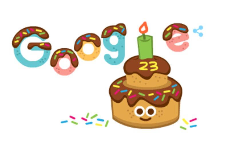 Google cumple 23 años y lo celebra con un doodle